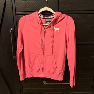 VS Pink happy zip jacket